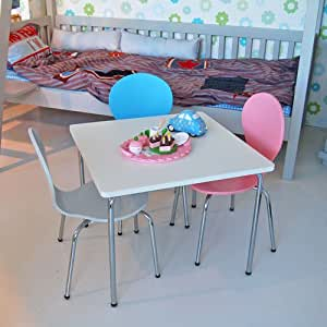 kindertisch spieltisch moritz wei 60x60cm abgerundete ecken k che haushalt. Black Bedroom Furniture Sets. Home Design Ideas