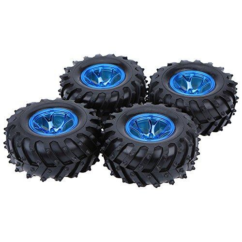 4ST Satz 1 10 Monster Truck Reifen für Traxxas HSP Tamiya HPI Kyosho RC Modellauto (12mm Rc Reifen Und Räder)