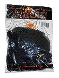 Luxuspiraten - Halloween Dekoration, Deko künstliches Spinnennetz zum Ausdekorieren, 20gr, Spiderweb, ideal für Jede Halloween Party / Feier, Schwarz