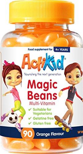 ActiKid Magic Beans Multi-Vitamin 90x Orange Flavour (D Vitamin Gummies)