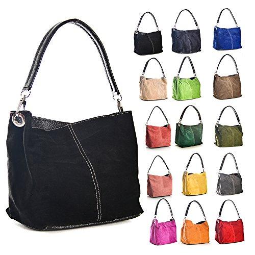 Big Handbag Shop, Borsa a spalla donna One lime green