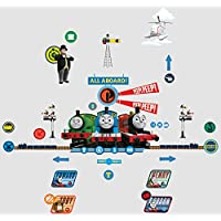 Worlds Apart Thomas The Tank Engine Ring My Bell Door Sign Wall Sticker, Blue