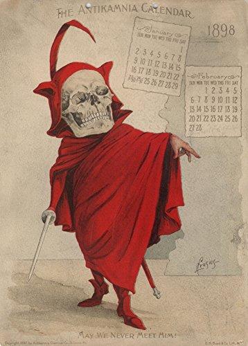 Vintage pharmazeutische kann WE NEVER Meet Again, aus der antikamnia 1898Kalender 250gsm, Hochglanz, A3, vervielfältigtes Poster (Kalender Satan)