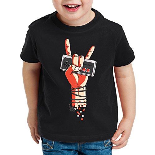 style3 Classic Rock T-Shirt für Kinder NES Controller Gamepad 8-Bit Konsole Gamer, Größe:128
