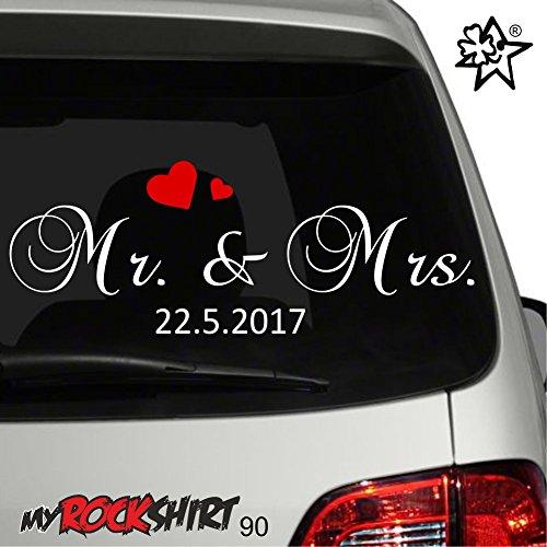 Hochzeitsaufkleber Typ 90 Just Married Autoaufkleber Deko Wandtattoo