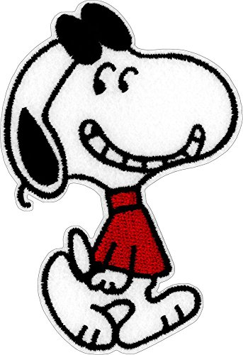 Snoopy in rot Pullover & Sonnenbrille - Cut Out Embroidered Iron on oder Sew auf Patch