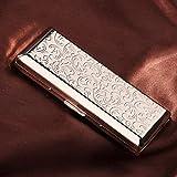 YXZN Edelstahl Zigaretten Gehäuse und Männer und Frauen Verlängern Tragbare Ultradünne Zigarettenschachtel,Silver,108X46X20MM