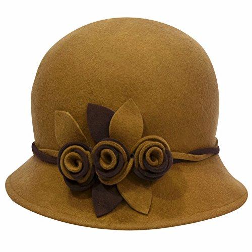 Eden hats - Chapeau - Femme camel+light coffee