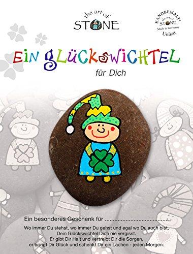 The Art of Stone Glückswichtel für Dich Serie 5 - Motiv 10 -Stein Handbemalt - Unikat - Glücksbringer als Geschenk und Talisman