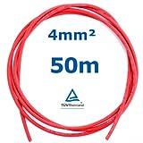 50 m Reiter-Solar SK4050 Solarkabel 4 mm - PV Verbindungs-Kabel unkonfektioniert rot oder schwarz, Farbe:Rot