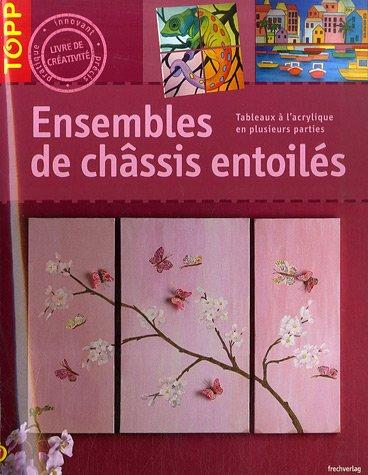 Ensemble des châssis entoilés : Tableaux à l'acrylique en plusieurs parties par Brigitte Pohle