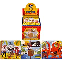 20 puzzles piratas, para bolsa de cumpleaños.
