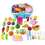 YVSoo 38 Dînette Cuisine Enfant Fruits et Légumes à Couper Jeu d'imitation Aliments à Découper Jouet Cuisine Apprend Papa Maman...