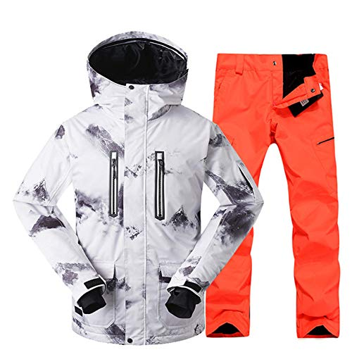 Winter ski Suit for Men ski Jacket Trousers Waterproof Snowboard Sets Outdoor Ski Sport Snowboarding Suit,Q2,S