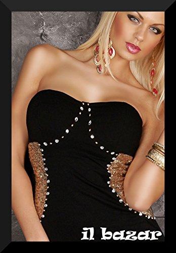 IL BAZAR Damen Schlauchkleid Kleid One size Schwarz