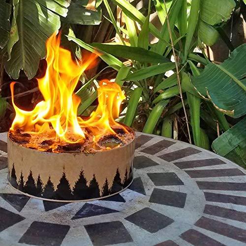 Quaan Tragbare und Wiederverwendbare Lagerfeuer-Außenbeleuchtung Lagerfeuer Hochwertige Tankheizung -