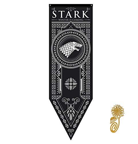 TianLinToy for Game Party Throne Gifts Stil Banner Haus Sigil Wand Flaggen (46 * 150 cm), Hängefahnen für Bar Club Wohnzimmer Schlafzimmer Dekoration -