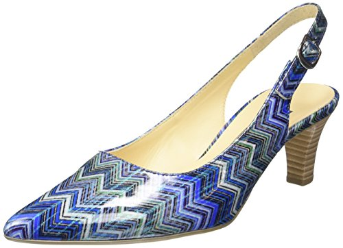 Gabor Shoes 41.550 Damen Slingback Pumps ,Blau (96 blau kombi) ,38 EU