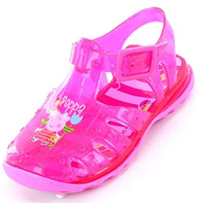 Peppa Pig Beach Pink Jelly Sandal Size 5 Child UK