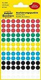 AVERY Zweckform 3090 selbstklebende Markierungspunkte (Ø 8 mm, 416 Klebepunkte auf 4 Bogen, runde Aufkleber für Kalender, Planer und zum Basteln, Papier, matt) bunt