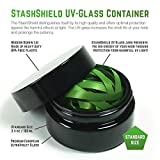 Masterdam Rolling Supplies StashShield UV Glass Preserve Container Standard Size [100ml] for Herb and Spices