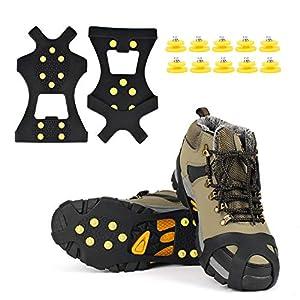 EONPOW Schuh Spikes 1 Paar Schuhspikes Schuhkralle Schuhkrallen EIS Spikes Shoe Spikes Anti Rutsch Sohle EIS Schneekette…