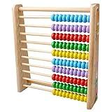 hibote Wooden Abacus Counting Anzahl Rahmen, Perlen Helle Farben-Counting-Spielzeug, Mathe-Hilfe-pädagogisches Spielzeug für Kinder Kinder
