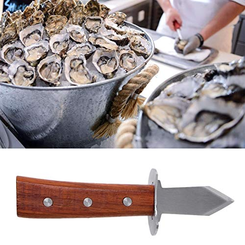 Fibrox-block (Kitchen Knives - Stainless Steel Open Shell Wooden Handle Oyster Shucking Knives - Aqua Nature Quality Rust Copper Bread Toddlers Individual Japan Block Knife Duty Utopia Blue Damascus Metal)