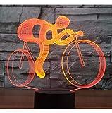 Fushoulu 3D Led Nachtlichtfahrt Fahrrad Mit 7 Farben Licht Für Heimtextilien Lampe Erstaunliche Visualisierung Optische Täuschung Awesome