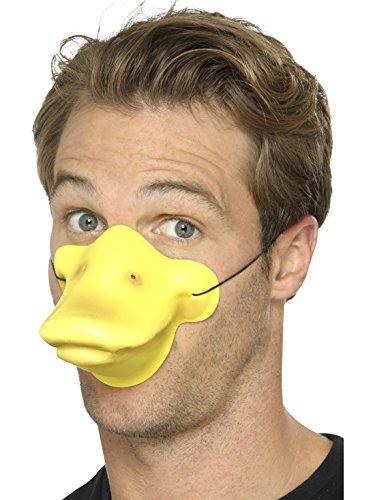Ente Kostüm Schnabel - Confettery - Enten Kostüm Schnabel- Entenmaske mit Gummiband, Gelb