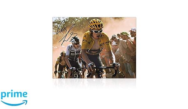 Exclusive Memorabilia Photo d/édicac/ée du Tour de France Geraint Thomas Dutch Corner