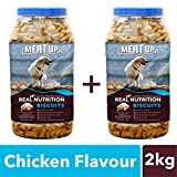 #6: Meatup Chicken Flavour Real Chicken Biscuit,Dog Treats, 1kg (Buy 1 Get 1 Free)