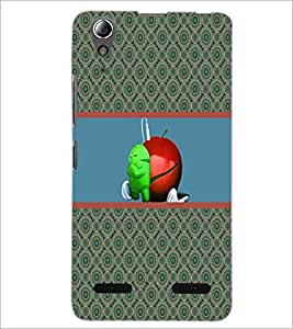 PrintDhaba Funny Image D-3782 Back Case Cover for LENOVO A6000 (Multi-Coloured)
