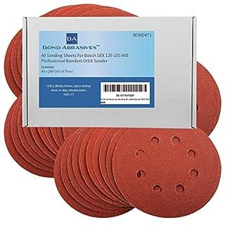 40Bond Schleifmittel Schleifscheiben für Bosch GEX 125–150AVE Professional Exzenterschleifer 240Körnung (V Fein)