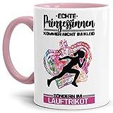 Tassendruck Sport-Tasse Diese Prinzessin trägt EIN Lauftrikot Mug/Cup / Geschenk-Idee/Witzig / mit Spruch/Innen & Henkel Rosa