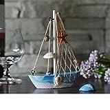 KESOTO 3 Stück Holz Segelschiff Deko Maritim Dekoartikel MEER Schiff Boot - 2