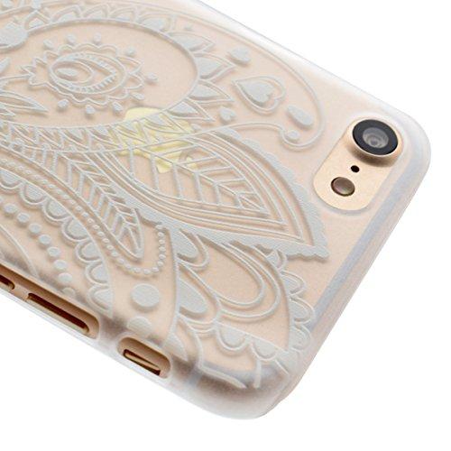 Ekakashop iPhone 7 Rigida Custodia, 2016 Neo Modello 4.7 pollici iPhone 7 Fashion Cover, Bumper Custodia Chiaro Trasparente Ultra Sottile Moda Disegno Copertura Di Caso PC Plastic in Silicone Gel Morb Fiori #1