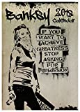 BANKSY CALENDAR 2018 LARGE (A3 ) SIZE POSTER WALL CALENDAR BRAND NEW & FACTORY SEALED