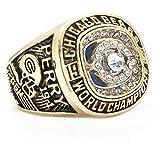 Ueice Herren Chicago Bären Welt Champions Rostfreier Stahl Meisterschaft Ringe,1985 Jahr,Größe 57 (18.1)