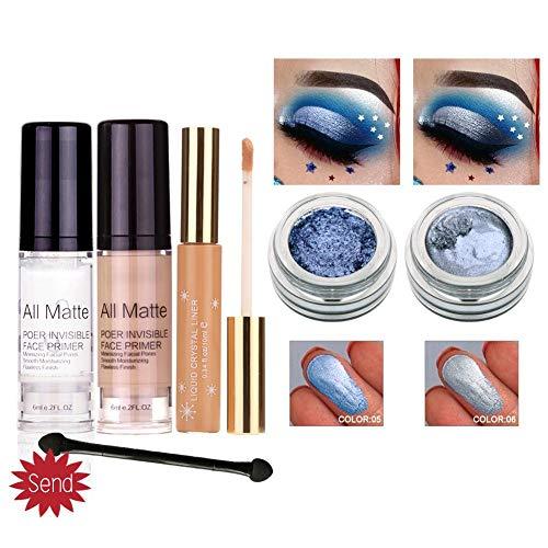 4 TLG Make Up Beauty Set Mit Flüssige Grundierung Concealer Lidschatten Pflege Lotion Pflegende Whitening Skin, Geschenk Für Frauen -
