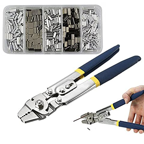 Wire Rope Swager Crimping Tool Clamp Tool Ratchet Press Crimper