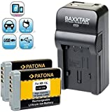 Baxxtar Razer 600 Ladegerät 5in1 mit (2X) Patona Akku - Ersatz für Akku Canon NB-13L - zu Canon PowerShot SX730 SX740 HS usw. / MicroUSB Eingang/USB-Ausgang für Drittgeräte (Smartphone usw.)