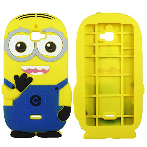 Heartly Cute Cartoon Minion Soft Rubber Silicone Flip Bumper Best Back Case Cover For Micromax Canvas Nitro A310 A311 Dual Sim Double Eye