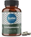 capsules de moules vertes (150 capsules vegan) - 1650 mg par dose quotidienne lèvres - des doses très élevées - GAG et Omega 3 - SANS stéarate de magnésium