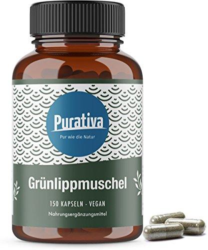 Grünlippmuschel Kapseln (150 vegane Kapseln) - 1650 mg Grünlippmuschelpulver pro Tagesdosis - SEHR hochdosiert - GAG und Omega 3 - OHNE Magnesiumstearat - zertifizierte deutsche Manufakturabfüllung
