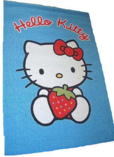 (Sanrio Hello Kitty Teppich Teppich 120cm x 80cm Blau Hintergrund)