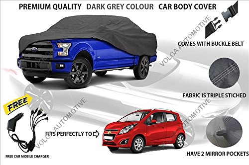 Volga Heavy Duty Grey Car Body Cover For Chevrolet Beat
