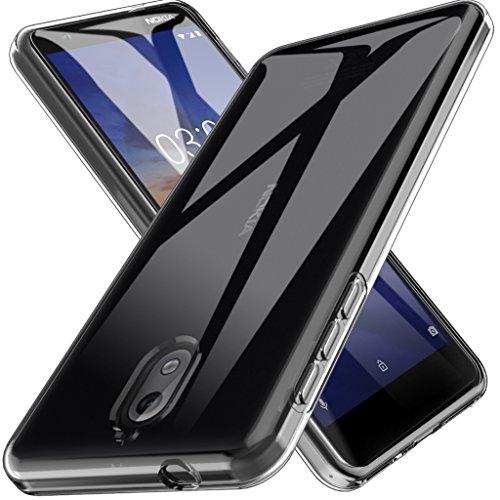 L K Per Cover Nokia 3.1 Custodia, Case in Morbido Silicone di Gel AntiGraffio in TPU Ultra [Slim Thin] Cover Protettiva - Trasparente