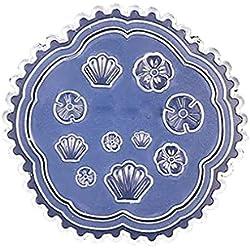 Gankmachine Forma del corazón del Molde del silicón de la Margarita Hoja de Las Flores de Resina Molde para la realización de Bricolaje joyería del Clavo de la Plantilla del Arte del Molde 6 * 6cm