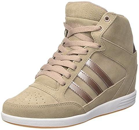 adidas Damen Super Wedge W Sneaker Low Hals, Grau (Grivap/Grmeva/Ftwbla), 38EU